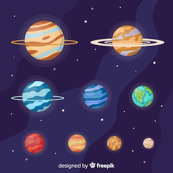 Flat planet collection of the milky way