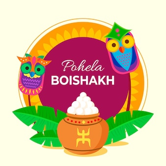 Piatto pohela boishakh illustrazione