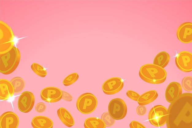 플랫 포인트 동전 배경