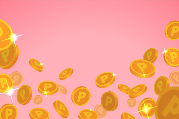 Плоская точка монеты фон