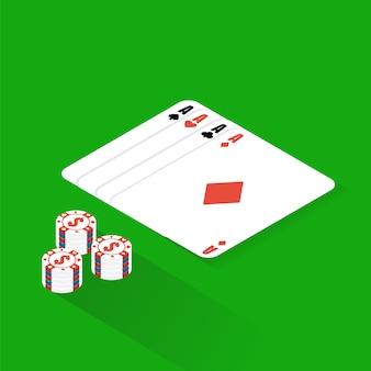 Плоский покерный стол