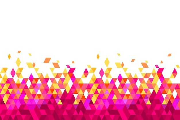 Fondo poligonale piatto