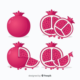Flat pomegranate collection