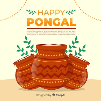Flat pongal background