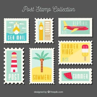 플랫 포스트 우표 수집