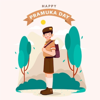 Плоская иллюстрация дня прамука