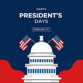 Flat presidents day event concept