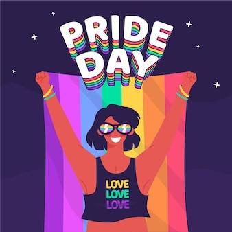 Flat pride day illustration