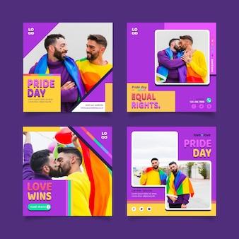 Коллекция сообщений instagram на день гордости