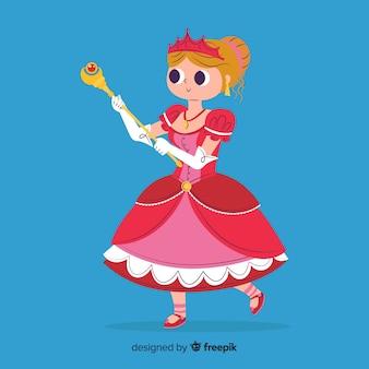 Flat princess background