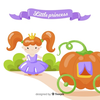 Flat princess background
