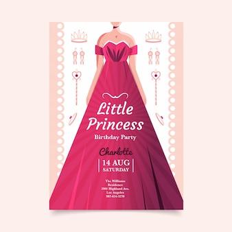 Invito di compleanno principessa piatto