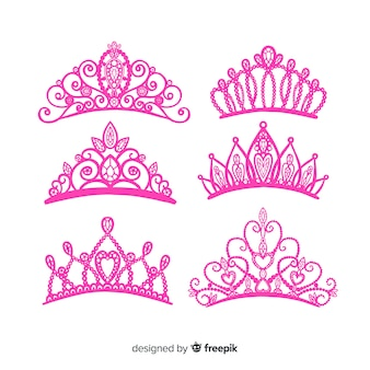 Flat princess tiara collectio