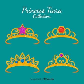 Flat princess tiara collectio