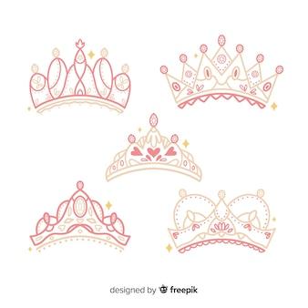 Flat princess tiara collection