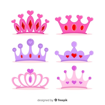 Flat princess tiara collection