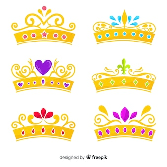 Flat princess tiara pack