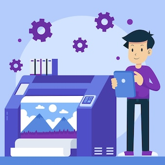 평면 인쇄 산업 그림