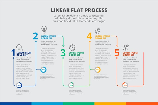 Flat process infographic template