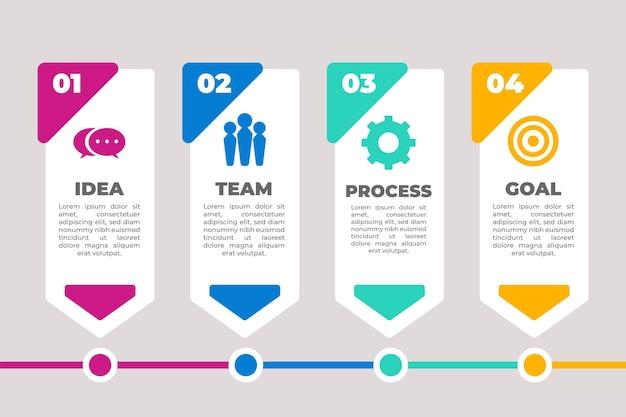 Плоская инфографика процесса
