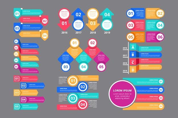Flat professional infographic elements