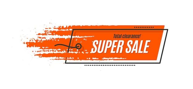 Flat promotion original banner, sales background, price tag. vector illustration