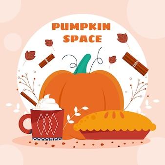 Flat pumpkin spice illustration
