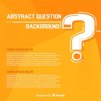 Flat question background template