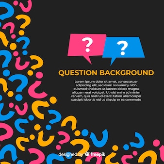 Flat question mark background