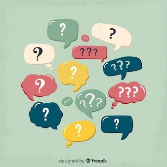 Flat question mark concept