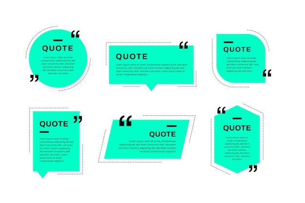 Flat quote box frame collection