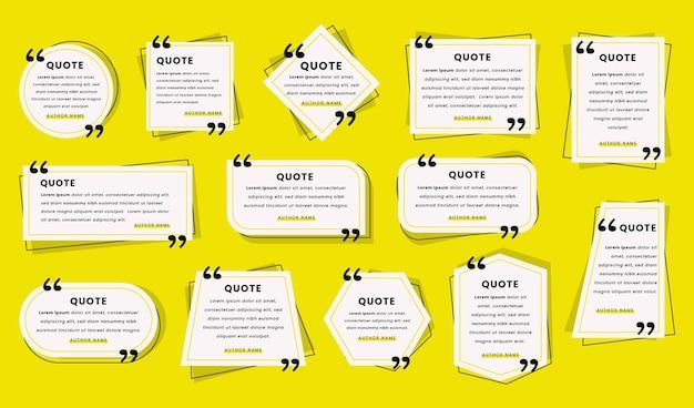 Коллекция рамок для плоских цитат