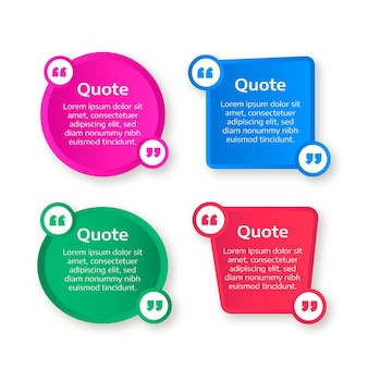 Flat quote box frames collection