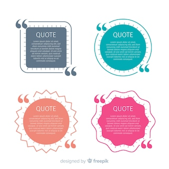 Flat quote template collection