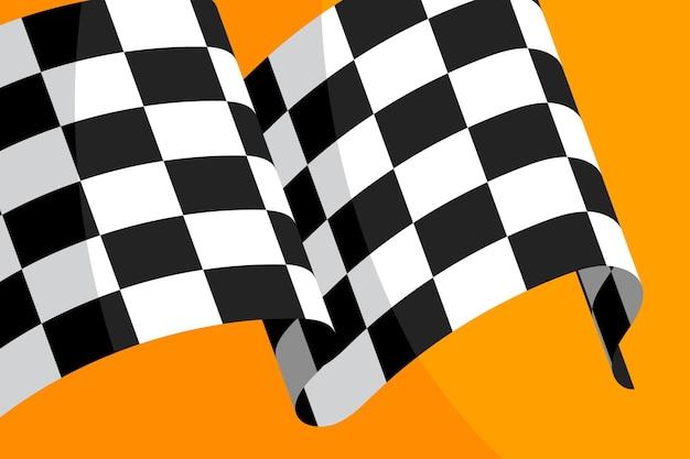 Sfondo bandiera a scacchi corsa piatto
