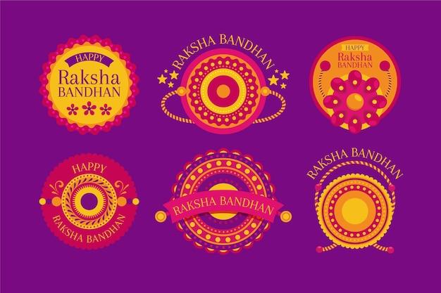 Flat raksha bandhan badges