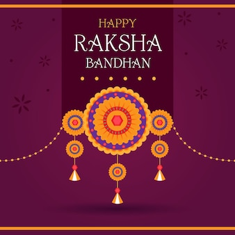 Flat raksha bandhan concept
