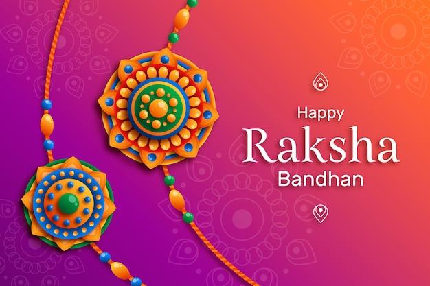 Flat raksha bandhan concept