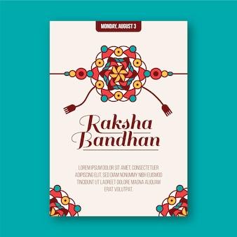 Cartolina d'auguri piatta raksha bandhan