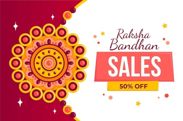Concetto di vendita piatto raksha bandhan