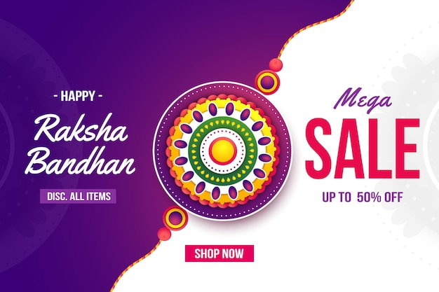 Flat raksha bandhan sales concept