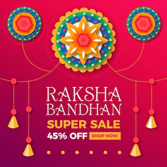 Flat raksha bandhan sales