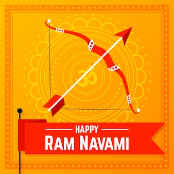 Flat ram navami illustration