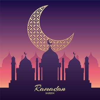 Flat ramadan background concept
