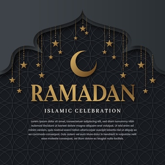 Flat ramadan background concept