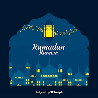 Flat ramadán background