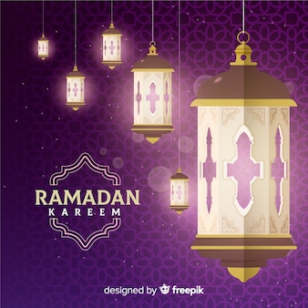 Flat ramadan background