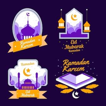 Flat ramadan badge collection