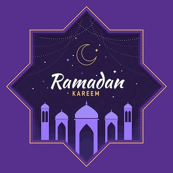 Flat ramadan concept