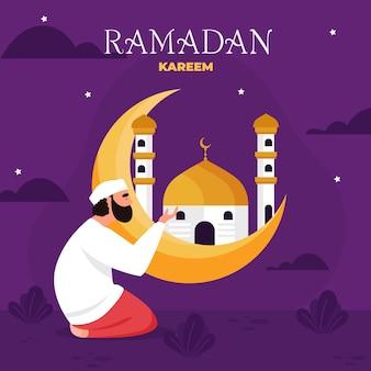 Flat ramadan illustration